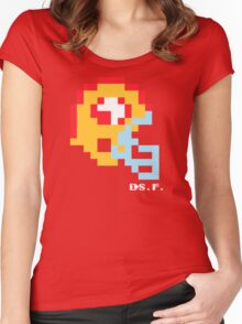 Tecmo Bowl -San Francisco 49ers - 8-bit - Mini Helmet shirt Women's Fitted Scoop T-Shirt