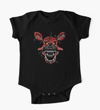 Five Nights at Freddys 4 - Nightmare Foxy - Pixel art One Piece - Short Sleeve
