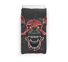 Five Nights at Freddys 4 - Nightmare Foxy - Pixel art Duvet Cover
