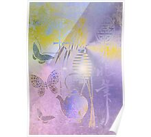 Teapot, Lamp & Butterfly. Japanese series1. Poster