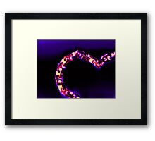 Love Glows Strong Framed Print