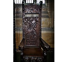Chair for Hymn Photographic Print