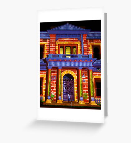 Coloured Pillars Greeting Card