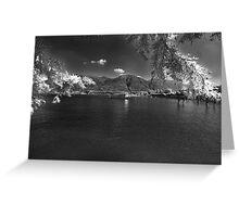 swiss alpine lake Greeting Card
