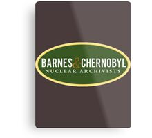 Barnes & Chernobyl - Nuclear Archivists Metal Print
