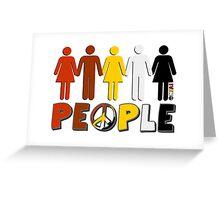 People 4 WORLD PEACE Greeting Card