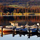 Fishing Boats On The Carron Dam by Jim Wilson