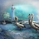 Peaceful At Pelican Point by Trudi's Images