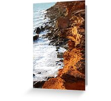 Rocky cliffs Broome Greeting Card
