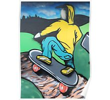 Skateboard graffiti, Meadow Lane, Birstall Poster