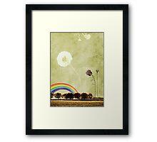 Thistle & Dandelion Framed Print