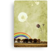 Thistle & Dandelion Canvas Print