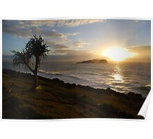 Sunrise Over Cook Island Poster