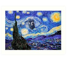 Starry Night Inspiration Doctor Who Tardis Products Art Print