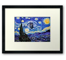 Starry Night Inspiration Doctor Who Tardis Products Framed Print