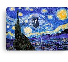 Starry Night Inspiration Doctor Who Tardis Products Canvas Print