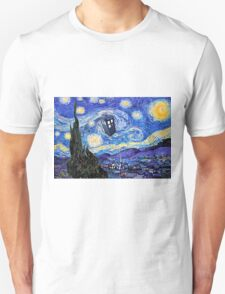 Starry Night Inspiration Doctor Who Tardis Products T-Shirt