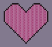 Pixelated Heart Kids Tee