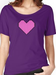 Pixelated Heart Women's Relaxed Fit T-Shirt