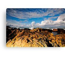 Rocks, Sea and Sky Canvas Print