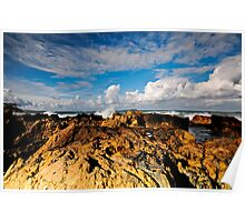 Rocks, Sea and Sky Poster