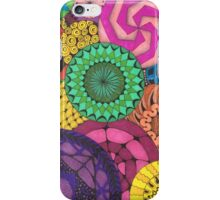 Hand Drawn Vibrant Circles iPhone Case/Skin