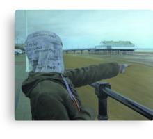 Happy Hoodie Spots a Ship Canvas Print