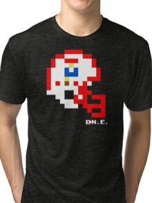 Tecmo Bowl - New England Patriots - 8-bit - Mini Helmet shirt Tri-blend T-Shirt