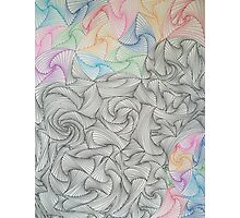 Abstract Hand Drawn Paradox Pattern Photographic Print