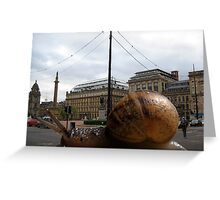 12 - SPEEDY THE SNAIL VISITS GLASGOW - DAVE EDWARDS - 2011 Greeting Card