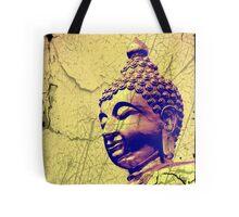 Crackled Amber Buddha Head Tote Bag