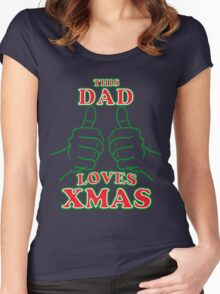 This Dad Loves Xmas Women's Fitted Scoop T-Shirt
