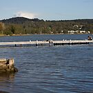Warners Bay Jetty by reflector