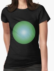 60s mod green circle Womens Fitted T-Shirt