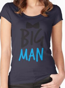 BIG MAN with bow tie cute blue bossy Women's Fitted Scoop T-Shirt