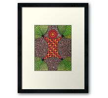 One with Nature Abstract Painting Framed Print