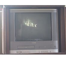 A tv function Photographic Print