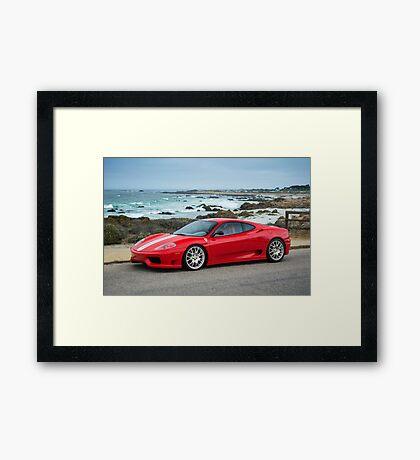 Red Ferrari 360 Challenge Stradale Framed Print