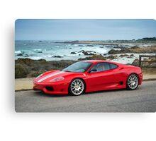 Red Ferrari 360 Challenge Stradale Canvas Print