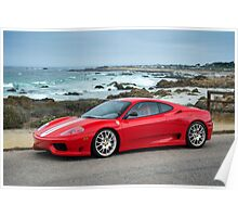 Red Ferrari 360 Challenge Stradale Poster
