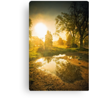 The Foggy Sunrise Canvas Print