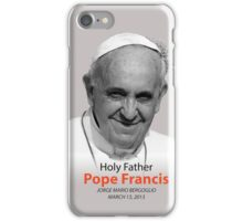 Pope Francis Headshot 2 iPhone Case/Skin