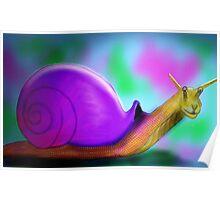 Racing Snail Poster