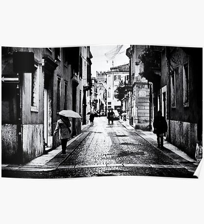 Rainy evening in Verona Poster
