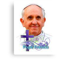Pope Francis Headshot 3 Canvas Print