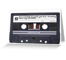 Cassette Notes Greeting Card