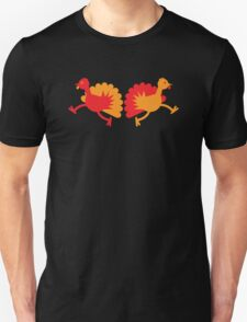 Two red and orange Turkies Unisex T-Shirt