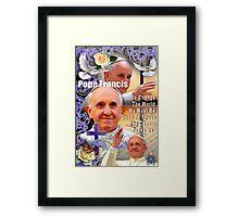 Pope Francis Headshot 5 Framed Print