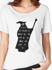 Gandalf The Philosopher Women's Relaxed Fit T-Shirt