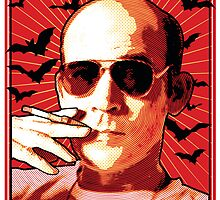 FH01 - Hunter S Thompson by seventy5square